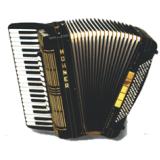 Aula de acordeon na Zona Leste