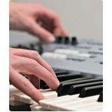 Aula teclado para iniciantes preço no Jardim Paulistânia